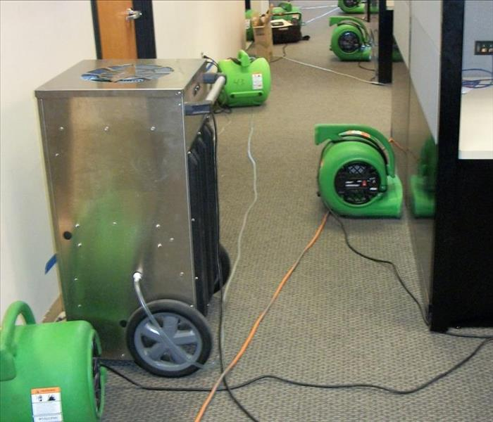 Commercial property with SERVPRO drying equipment