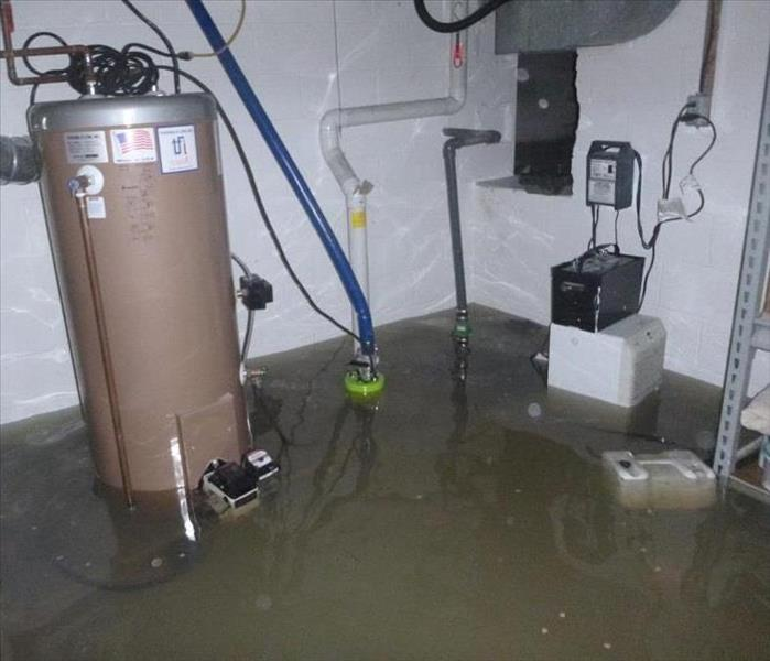 Water Damage Flooded Basement, Somerset, New Jersey